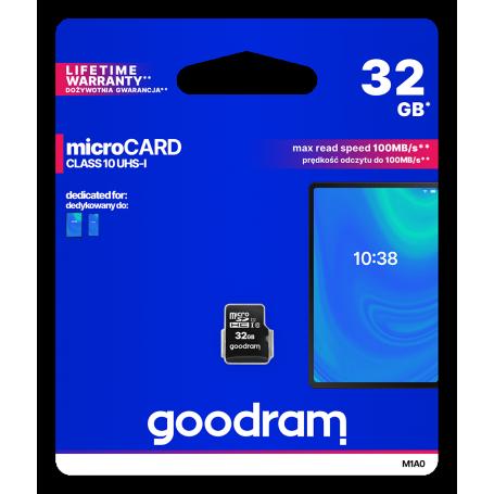 Micro SD card GoodRAM 32GB class 10 UHS I GR-M1A0-0320R1 GOODRAM - 1
