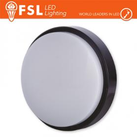 Plafoniera LED ROTONDA APPLIQUE NERA 15W 4000K Ø180X55 IP54 FLRB - 1