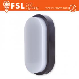 Plafoniera Applique LED OVALE NERA 15W 3000K 55x100x200 IP54 FLRE - 1