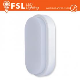 Plafoniera LED Applique OVALE BIANCA 15W 4000K 55X100X200 IP54 FLRE - 1