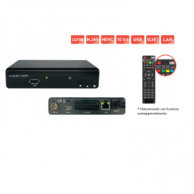Decoder Digitale Terrestre MASTER DVB-T2 H.265 HEVEC HFD 10bit MASTER - 1