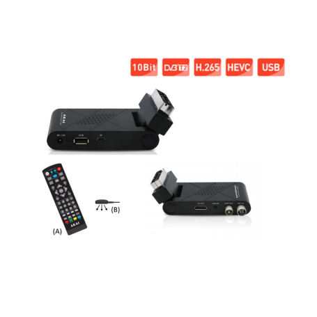 Decoder Digitale Terrestre scart AKAI DVB-T2 USB HD HEVEC 265 10bit AKAI - 1