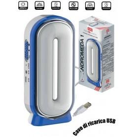 Lampada Torcia Ricaricabile USB Portatile CFG ANDROMEDA 1 LED Camping Pesca