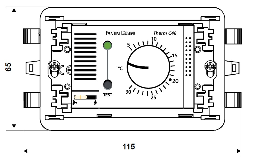 Termostato ambiente da incasso fantini cosmi c48 for Fantini cosmi c48
