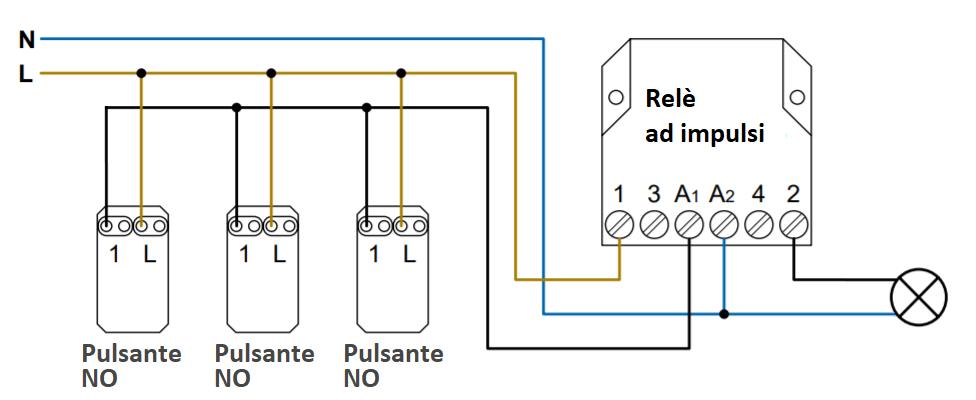 Schema elettrico relè